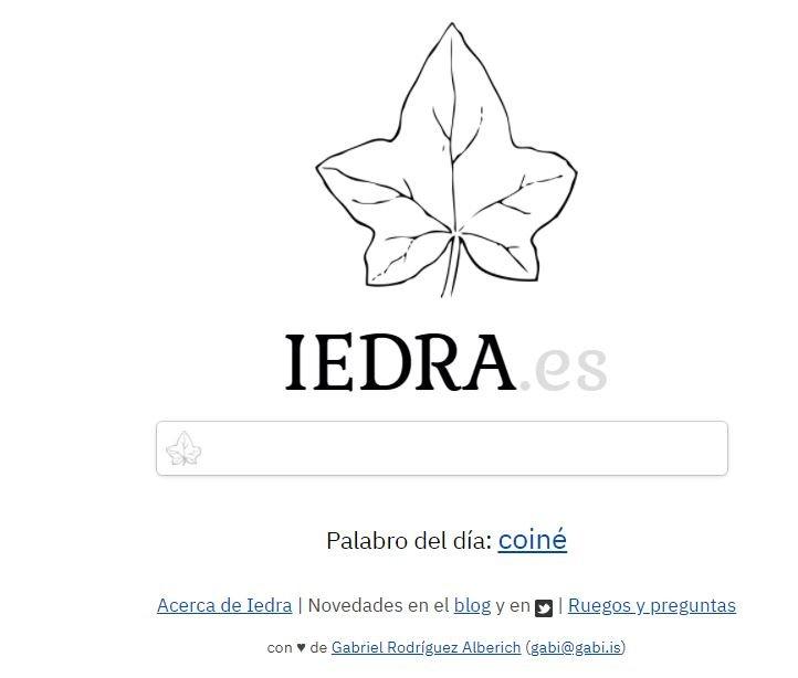 Dirae, Iedra, diccionario inverso